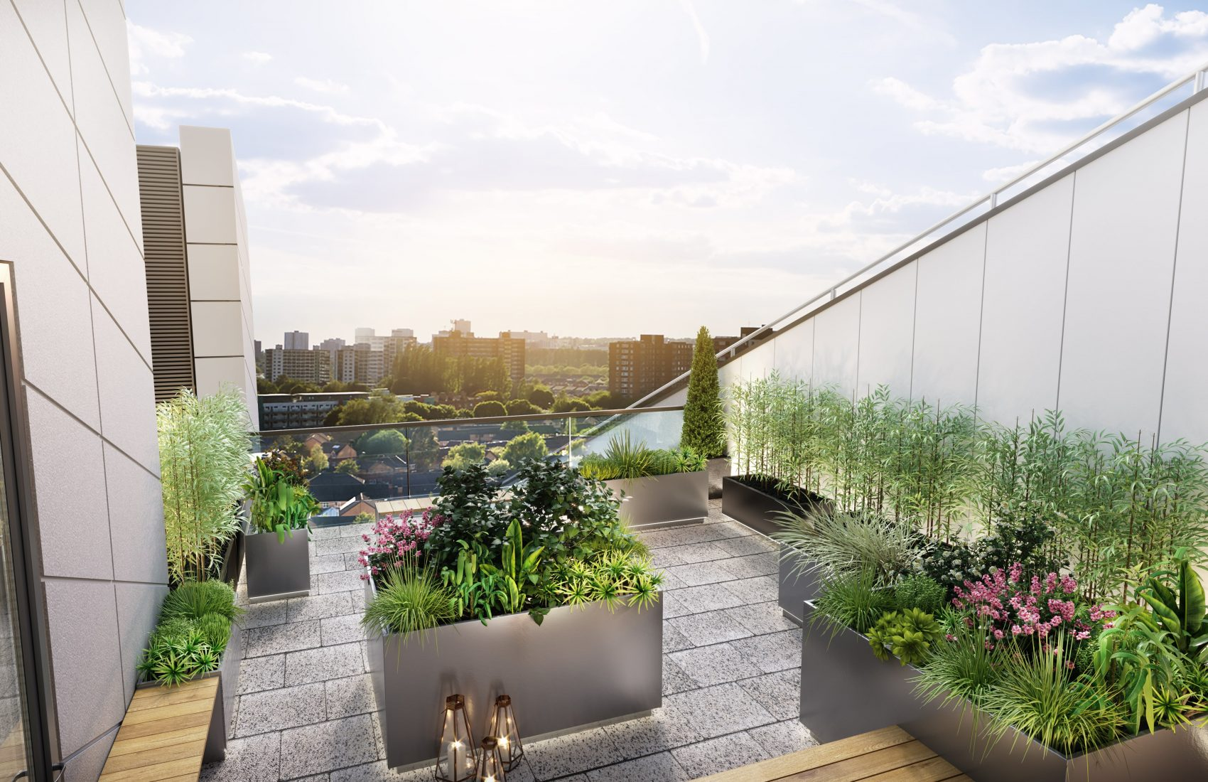 roof terrace cgi visualisation - residential penthouse cgi-min